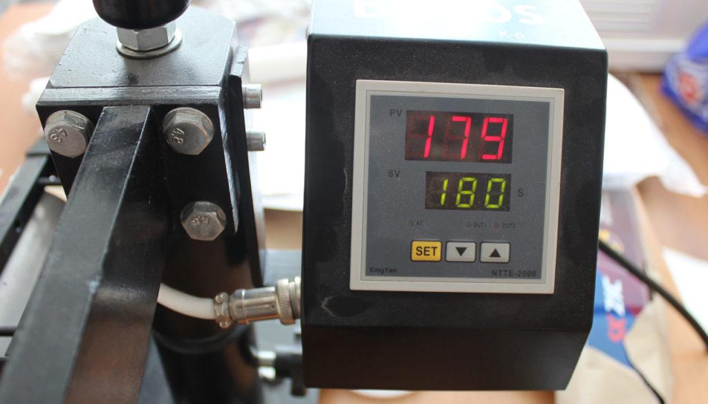 Температура в термопрессе